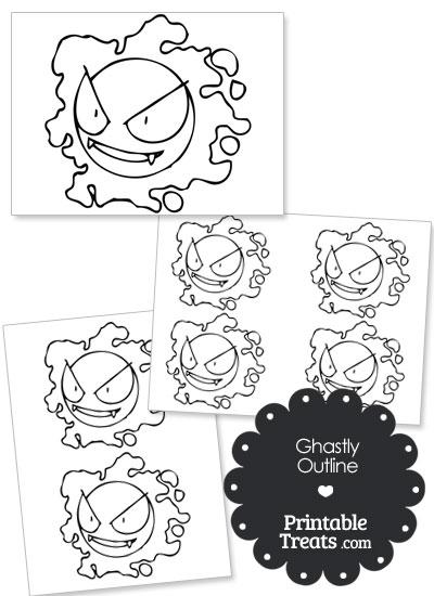 Printable Ghastly Outline from PrintableTreats.com