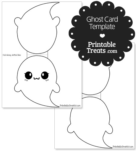 printable ghost card template