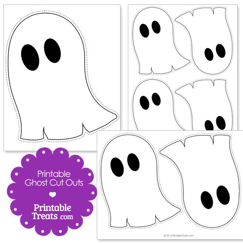printable ghost cut outs