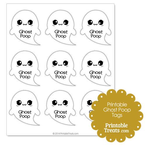 printable ghost poop tags