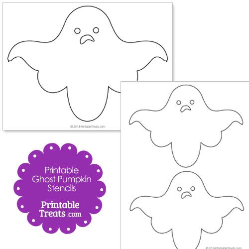 printable ghost pumpkin stencils