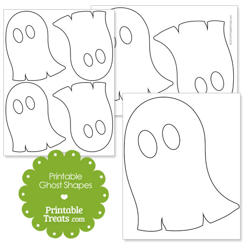 printable ghost shapes
