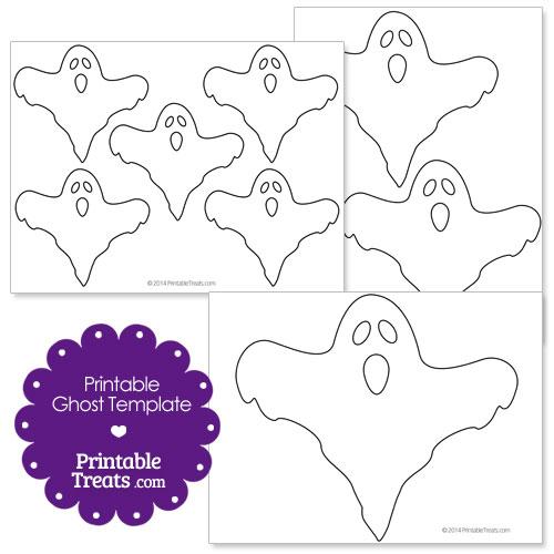 printable ghost template