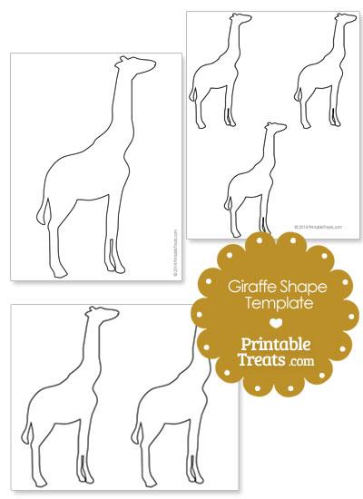 Printable Giraffe Shape Template from PrintableTreats.com