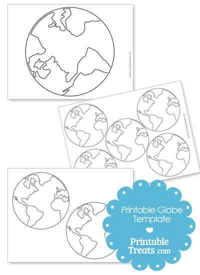 Printable Globe Template from PrintableTreats.com