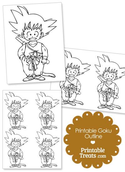 Printable Goku Outline from PrintableTreats.com