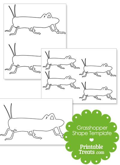 Printable Grasshopper Shape Template from PrintableTreats.com