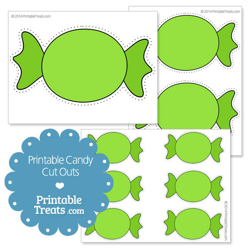 printable green candy cut outs
