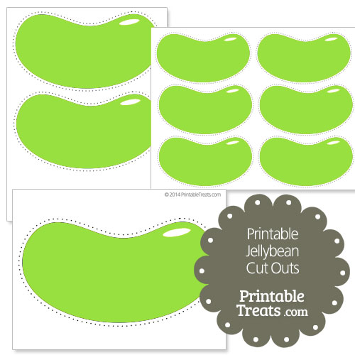 printable green jellybean cut outs