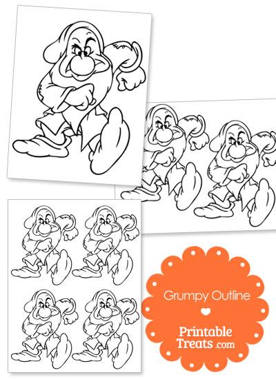 Printable Grumpy Outline from PrintableTreats.com