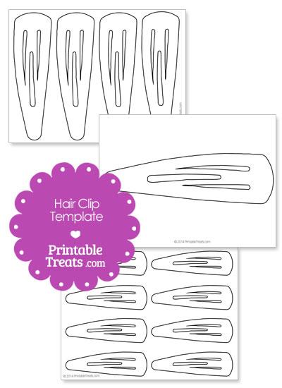 Printable Hair Clip Template from PrintableTreats.com