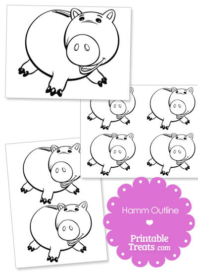 Printable Hamm Outline from PrintableTreats.com