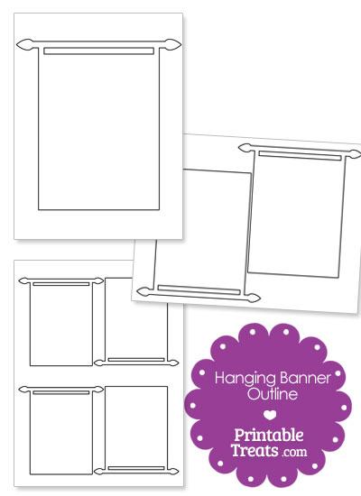 Printable Hanging Banner Outline from PrintableTreats.com