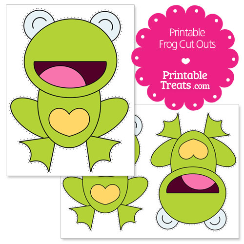 printable heart frog cut outs