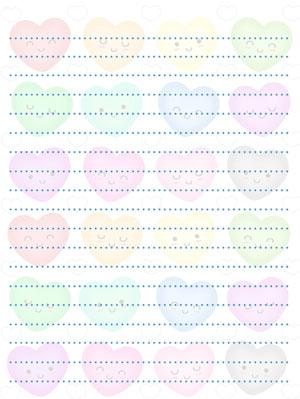 rainbow printable heart stationery