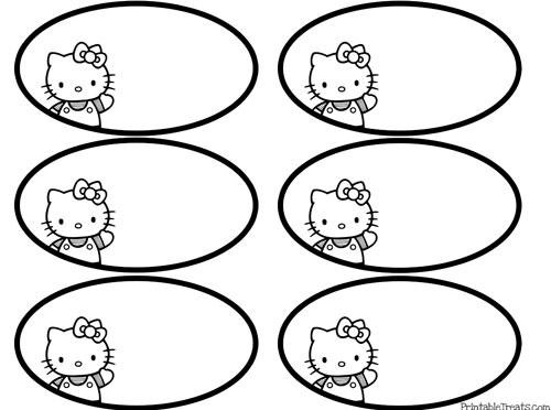 free black and white printable hello kitty tags