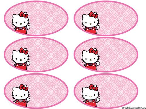 printable hello kitty tags pink