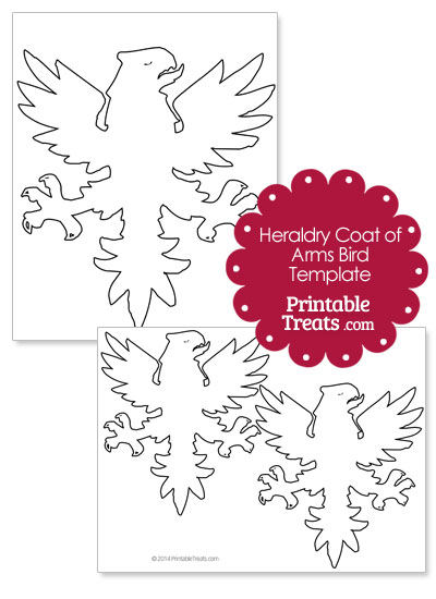 Printable Heraldry Coat of Arms Bird from PrintableTreats.com