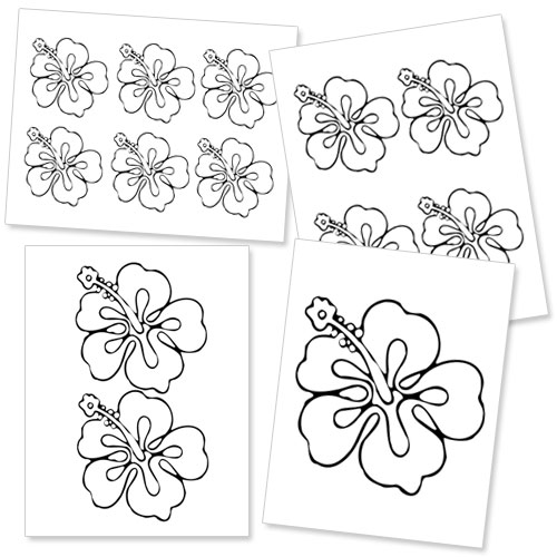 printable hibiscus flower template