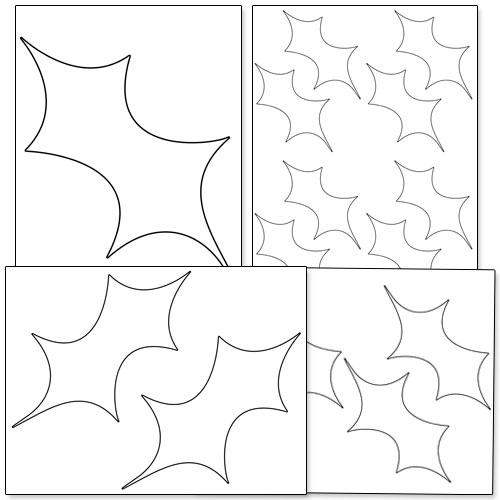 printable holly leaf template