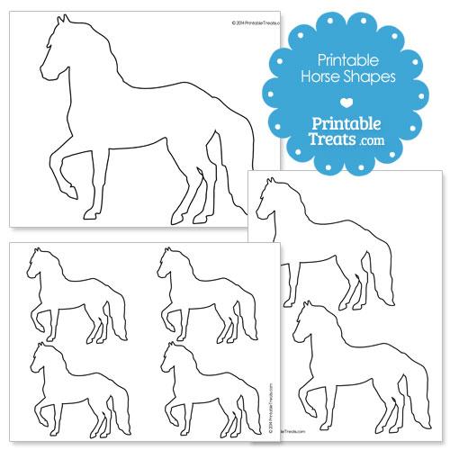 printable horse shapes