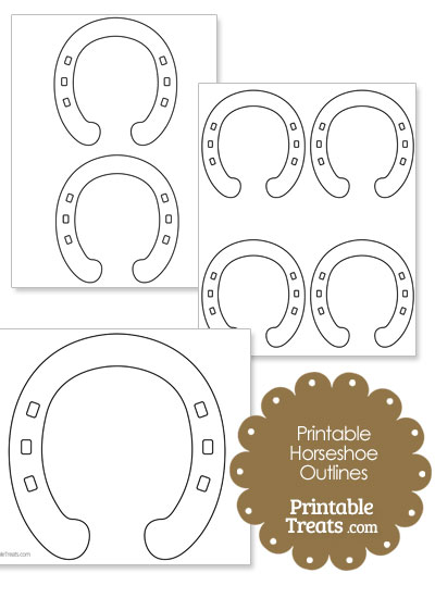 Printable Horseshoe Outlines from PrintableTreats.com