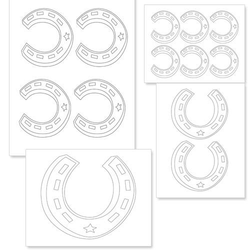 printable horseshoe template