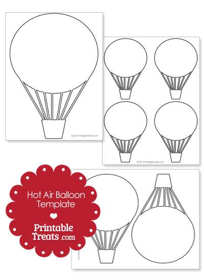 Printable Hot Air Balloon Template from PrintableTreats.com