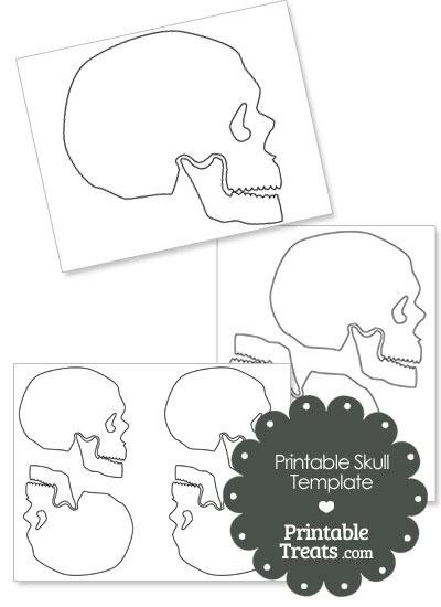 Printable Human Skull Template from PrintableTreats.com