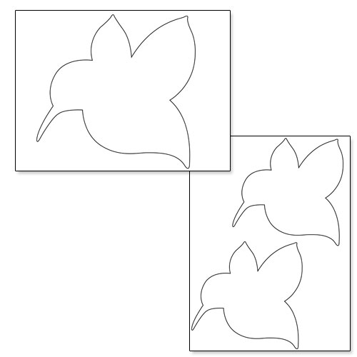 printable hummingbird shape