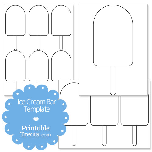 printable ice cream bar shape template