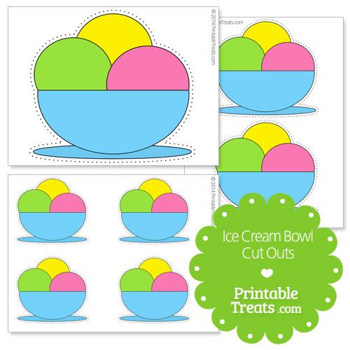 printable ice cream bowl cut outs
