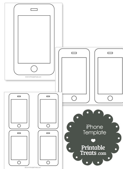 Printable iPhone Shape Template from PrintableTreats.com