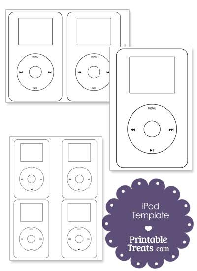Printable iPod Outline from PrintableTreats.com