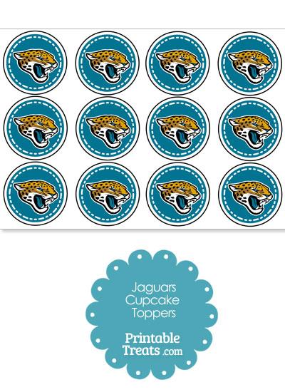 Printable Jaguars Logo Cupcake Toppers from PrintableTreats.com