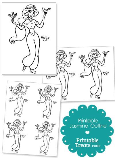 Printable Jasmine Outline from PrintableTreats.com