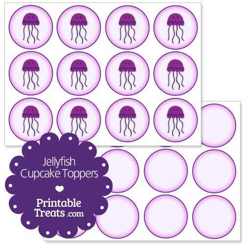 printable jellyfish cupcake toppers