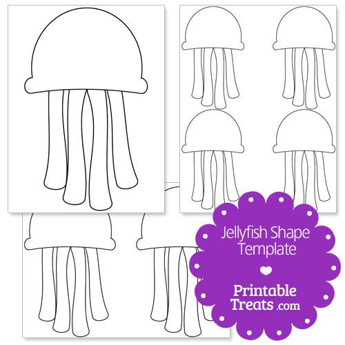 printable jellyfish shape template