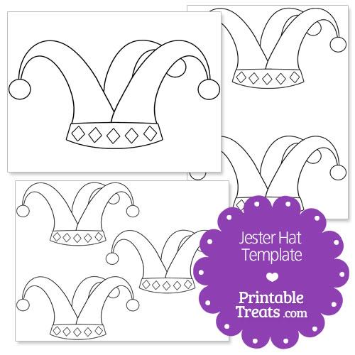 printable jester hat shape template