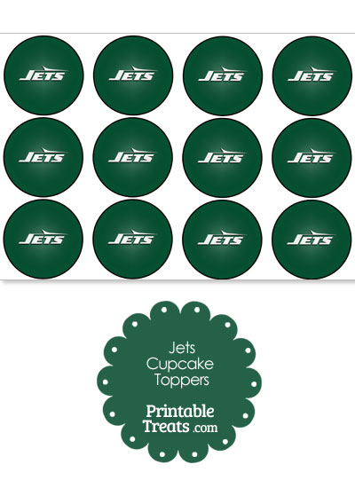 Printable Jets Logo Cupcake Toppers from PrintableTreats.com