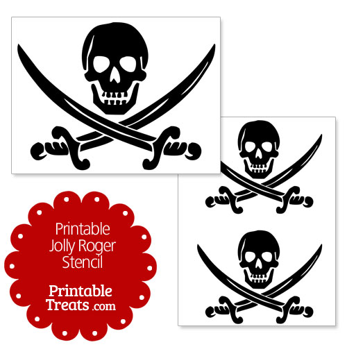 printable Jolly Roger stencil