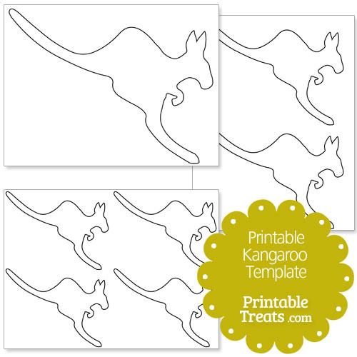printable kangaroo template