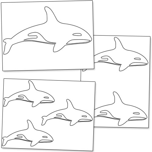 printable killer whale shapes