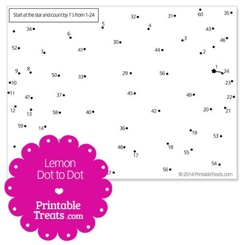 free printable lemon dot to dot