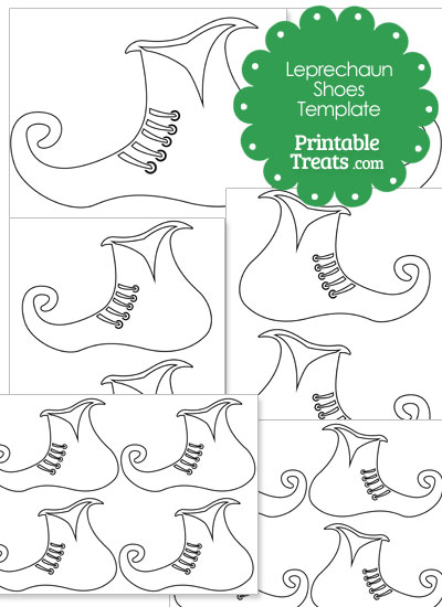 Printable Leprechaun Shoe Template from PrintableTreats.com