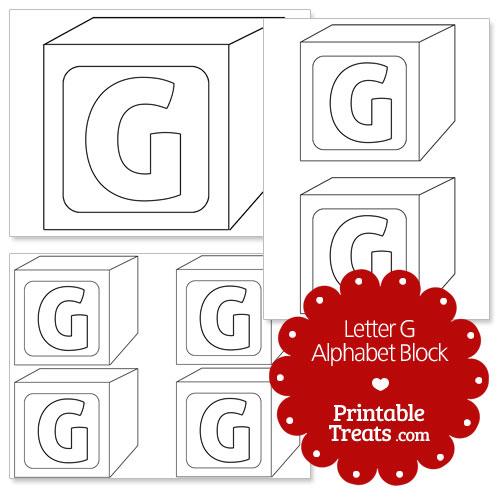 printable letter g alphabet block template