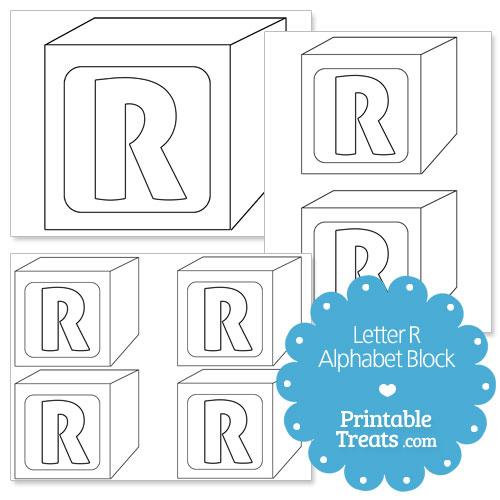 printable letter r alphabet block template