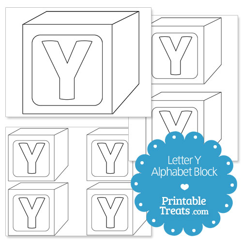 printable letter y alphabet block template