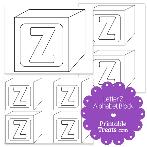 printable letter z alphabet block template