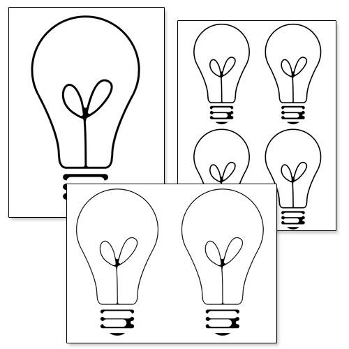 printable light bulb template